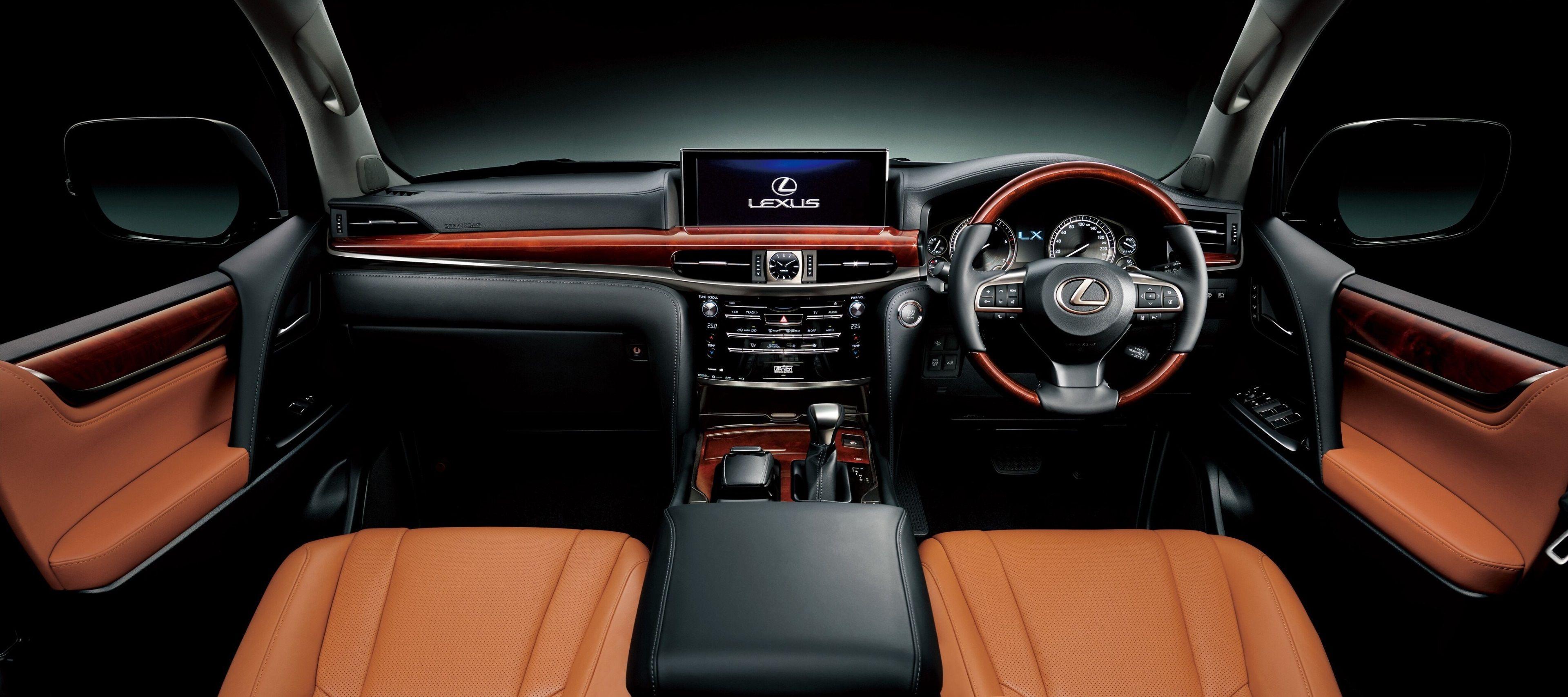 3840x1708 Lexus Lx 570 4k Screen Wallpaper Lexus Lx 570 Steering Wheel