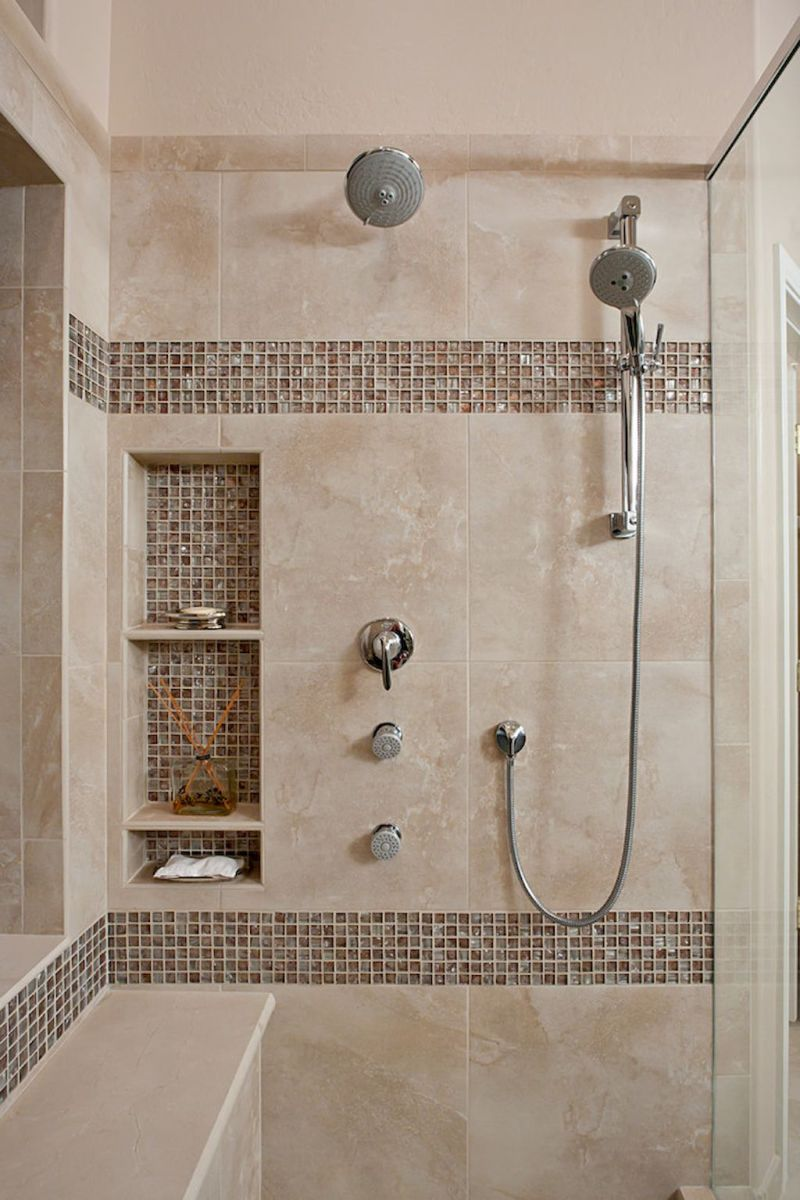 120 Stunning Bathroom Tile Shower Ideas 118 Master Bathroom Shower Bathroom Remodel Shower Small Bathroom With Shower