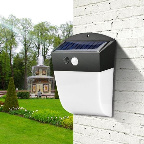 Solar Power 24 LED PIR Motion Sensor Wall Light Waterpoof for Outdoor Street Courtyard Garden is part of Courtyard garden Lighting -