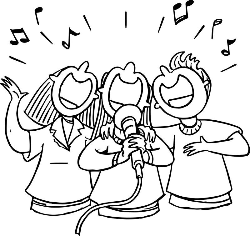 People Singing 3rd Grade Coloring Page Cartoon Coloring Pages Bear Coloring Pages Coloring Pages
