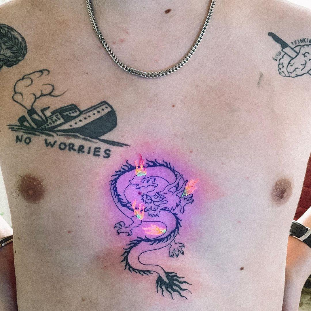 Uv tattoo artist tukoi oya tattoo artwoonz uv