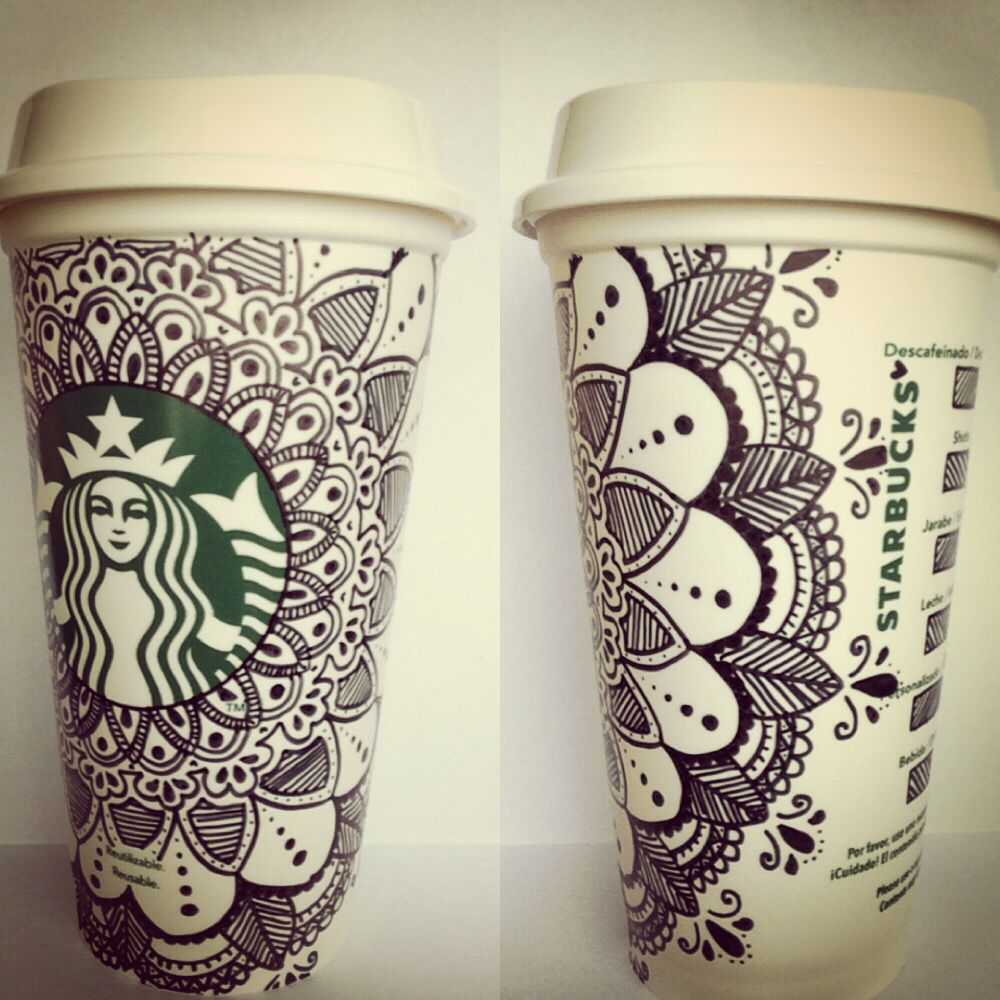 Mandala coffee starbucks cups ☕️ (With images) Starbucks