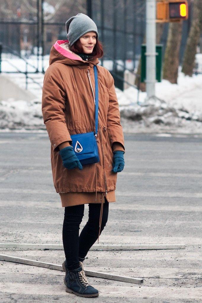 Irina all bundled up #offduty in NYC. #IrinaKravchenko