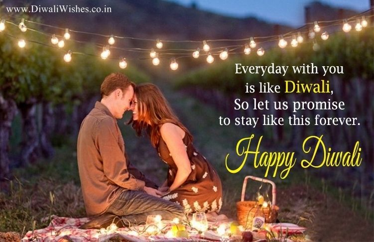 Romantic Diwali Wishes For Lover With Lovely Couple Image Diwalilovesayings Diwalilovequotes Romantic Happy Diwali Quotes Diwali Quotes Diwali Wishes Quotes