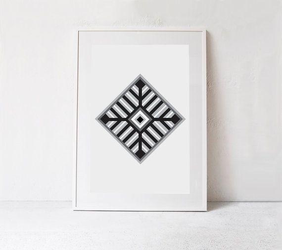Southwestern print aztec wall art tribal wall decor printable wall art tribal art aztec print instant download black and white print