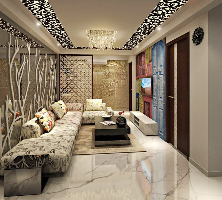Living Area Asian Living Room By Design Consultant House Ceiling Design Ceiling Design Living Room Living Room Ceiling