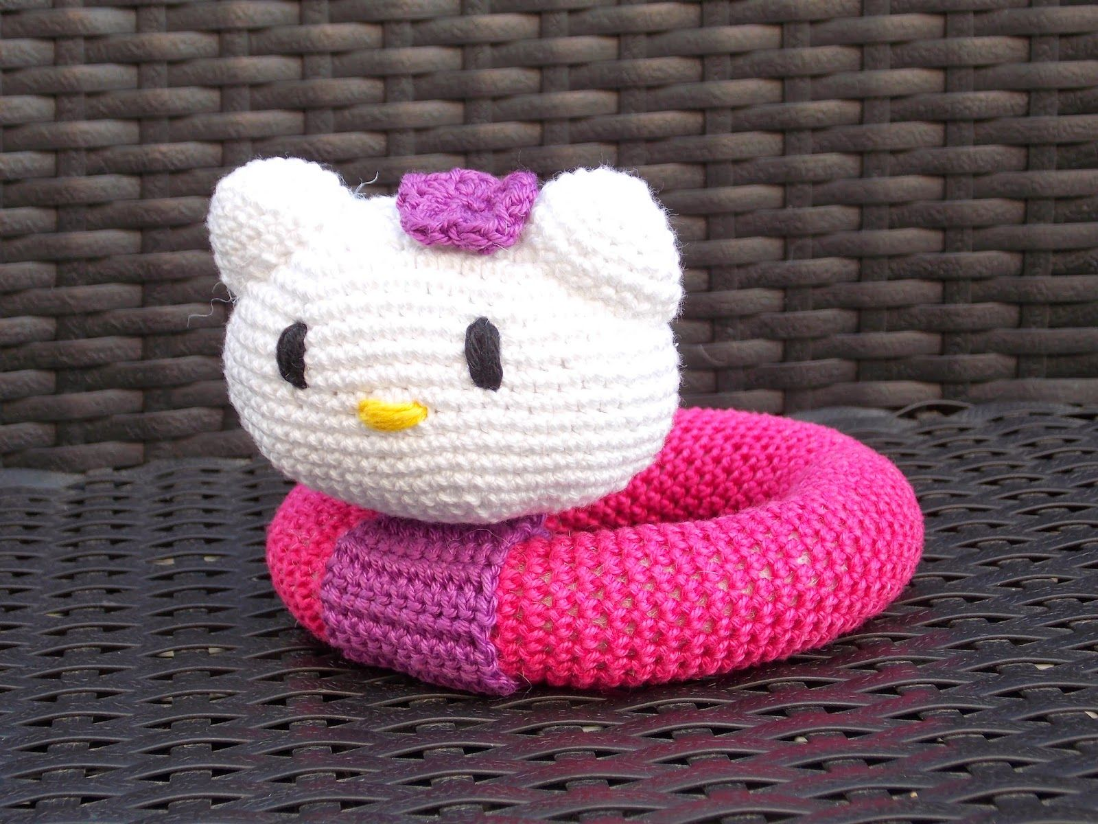 Hello Kitty rammelaar (met link naar gratis patroon) / Hello Kitty ...