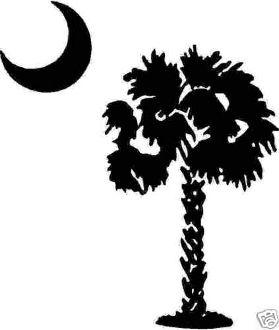 New Custom Screen Printed T Shirt Palm Tree Moon