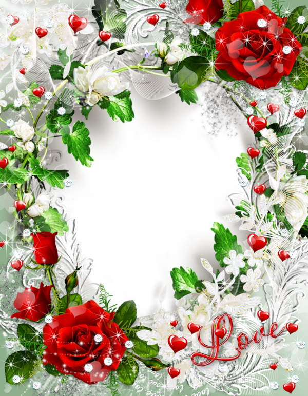 Beautiful Transparent Rose Photo Frame Love Gallery Yopriceville High Quality Images And Transparent Png Fre Romantic Frame Boarders And Frames Rose Frame