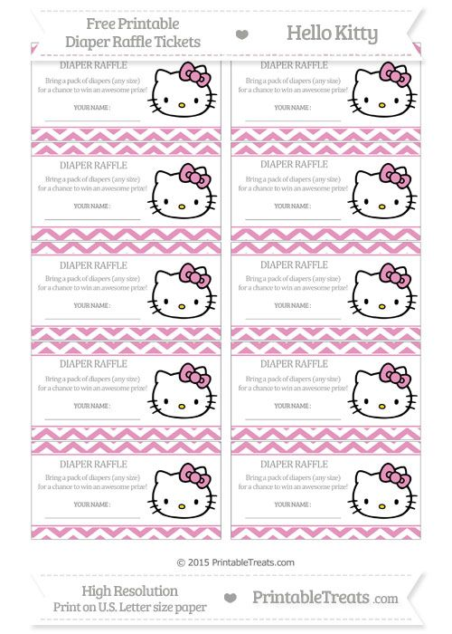 Free pastel bubblegum pink chevron hello kitty diaper raffle tickets free pastel bubblegum pink chevron hello kitty diaper raffle tickets hello kitty baby shower baby filmwisefo