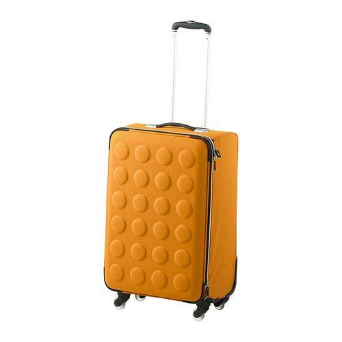 a19defa976933c УПТЭККА Чемодан на колесиках, складной, желто-оранжевый желто-оранжевый.  Размеры товара Ширина: 41 см. Глубина: 30 см. Высота: 60 см. Объем: 60 л.