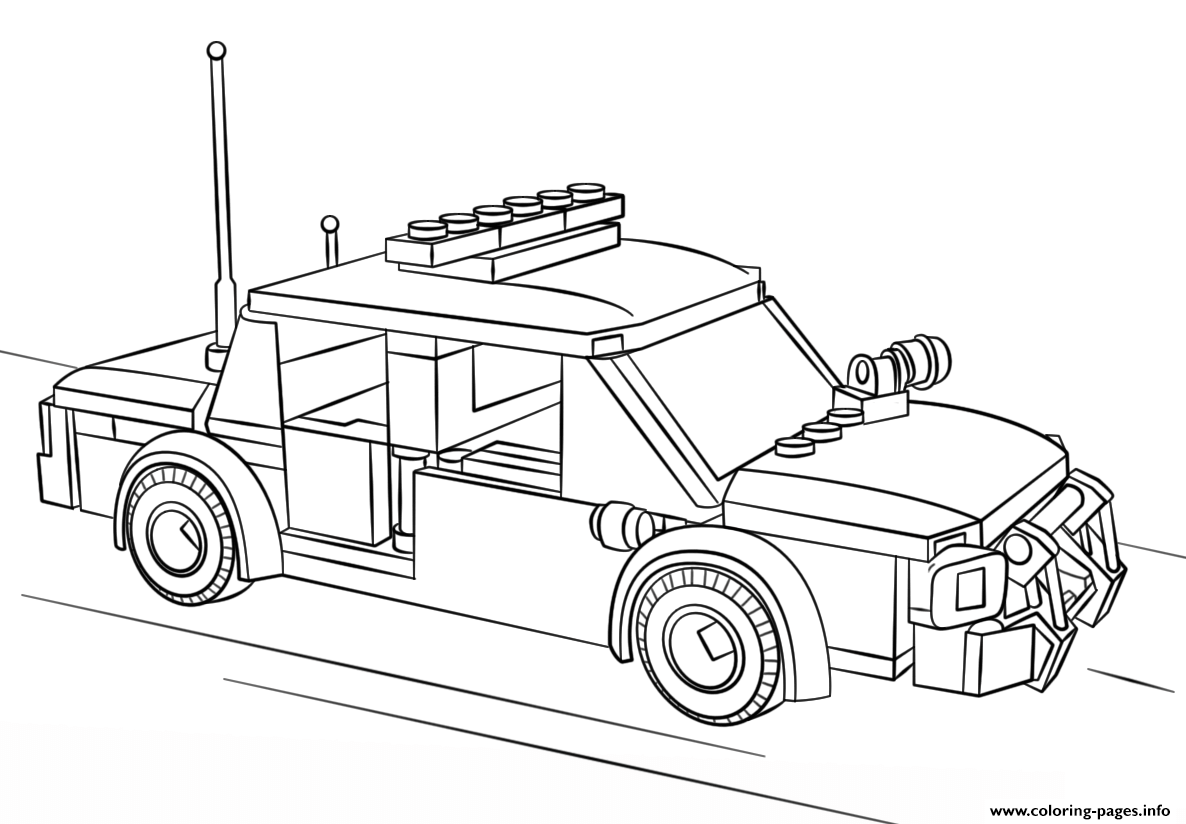 Free Download lego police car city coloring pages Printable ...