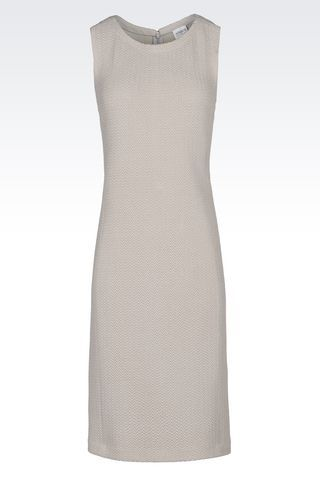 DRESS IN JACQUARD: 3/4 Length Dresses Women by Armani - 1