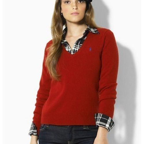 Red sweater , Either V neck or Crew Neck | Wardrobe Staples ...