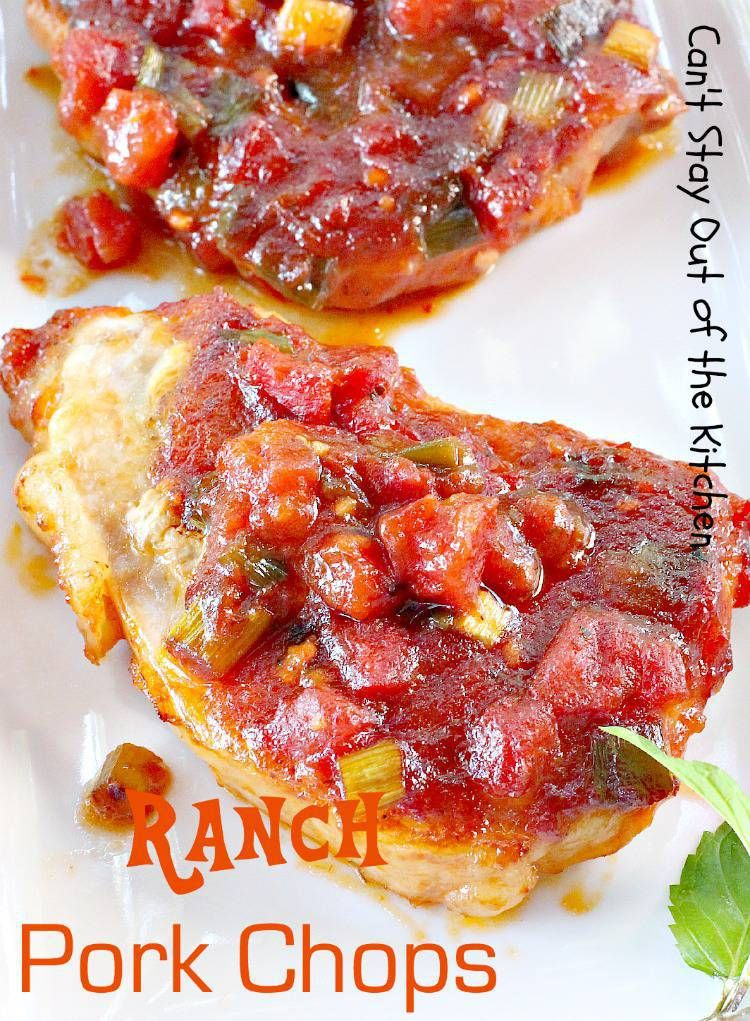 Ranch Pork Chops Recipe (With images) Ranch pork chops