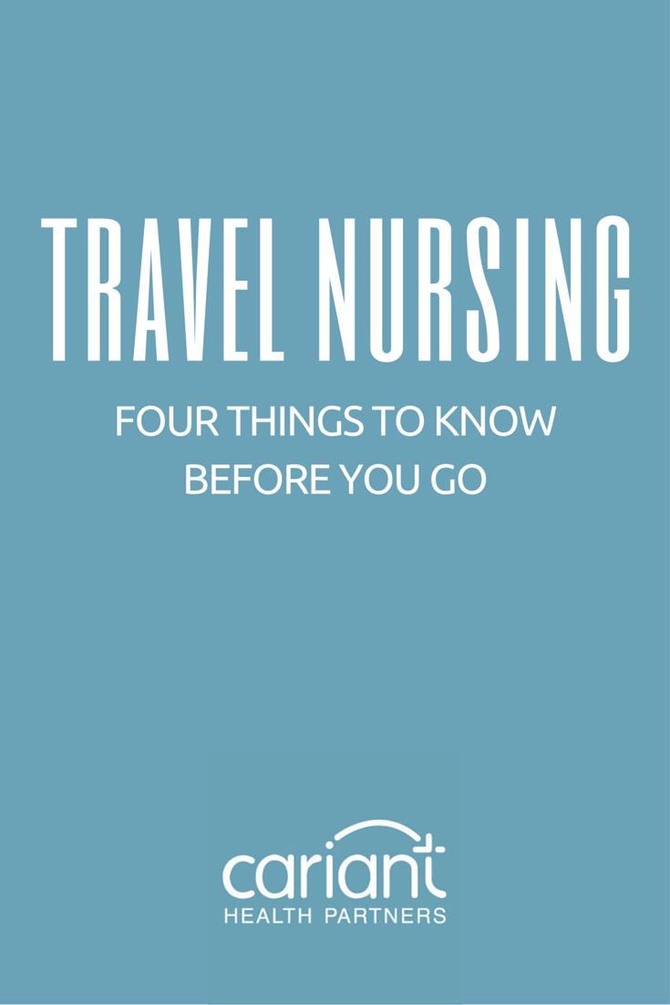 Travel Nursing Before You Go