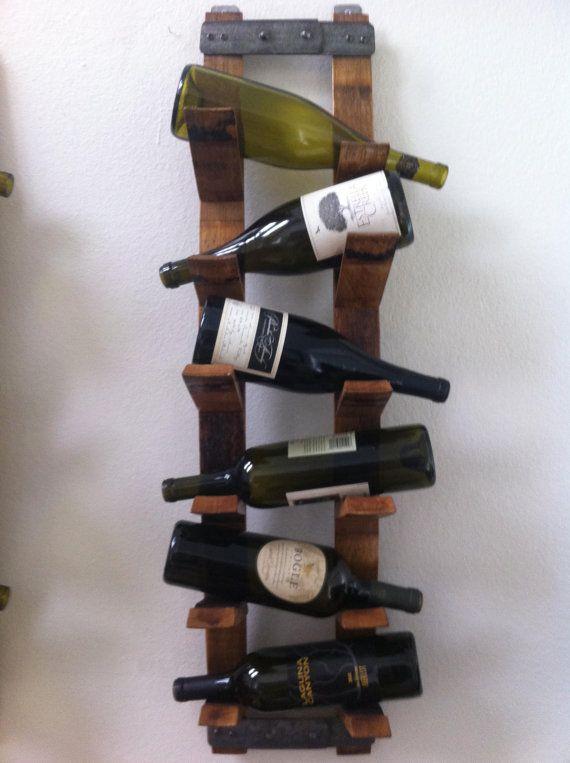Wall Mount Wine Rack on Etsy, $155.00