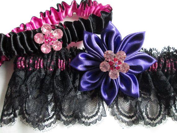 Black Lace Garter Wedding Set By NakedOrchidGarters Guides For
