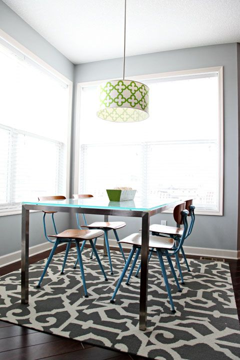 Why Carpet Tiles Are The Right Rug For Dining Room Design Inspiration