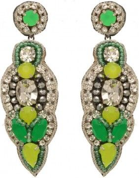 Fun in Marrakech Earrings - Green - by Deepa Gurani at I Love Designer.com