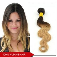 Grade 5A High Quality Hair #1B/27 Remy Human Hair Ombre Color Body Wavy Sell Best Two Tone Hair Weave Weft 100g