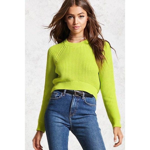 Forever21 High Low Ribbed Knit Sweater 16 Liked On Polyvore