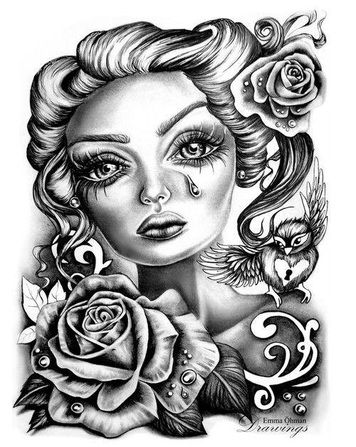 Emma Ohman Big Eyes Art Prison Art Lowrider Art