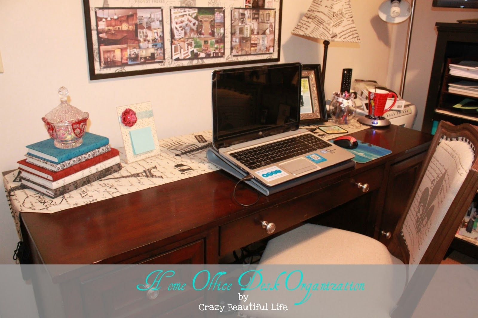 Home Office Desk Organization