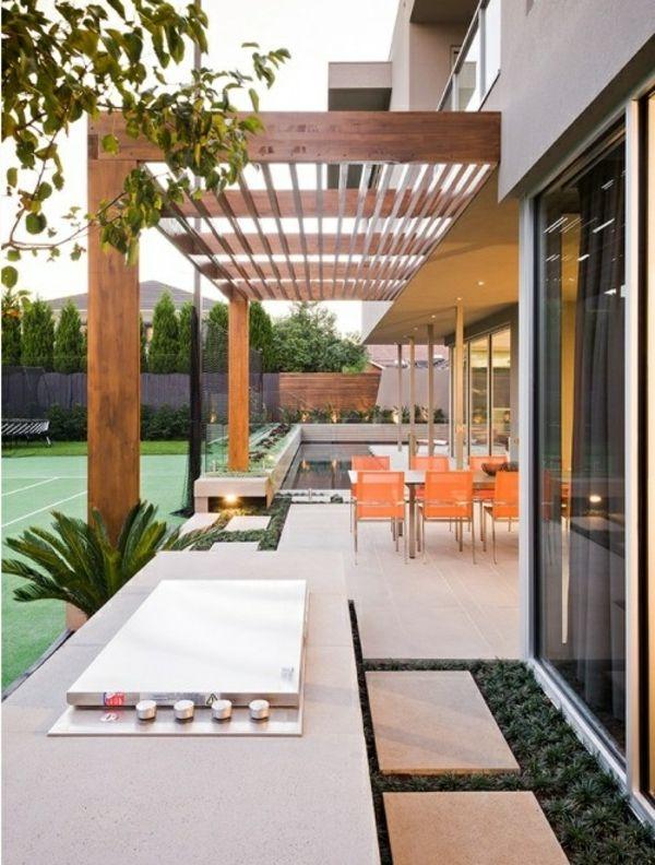 pergola bausatz 40 pergolas und gartenlauben f r ihren au enbereich fassade haus. Black Bedroom Furniture Sets. Home Design Ideas