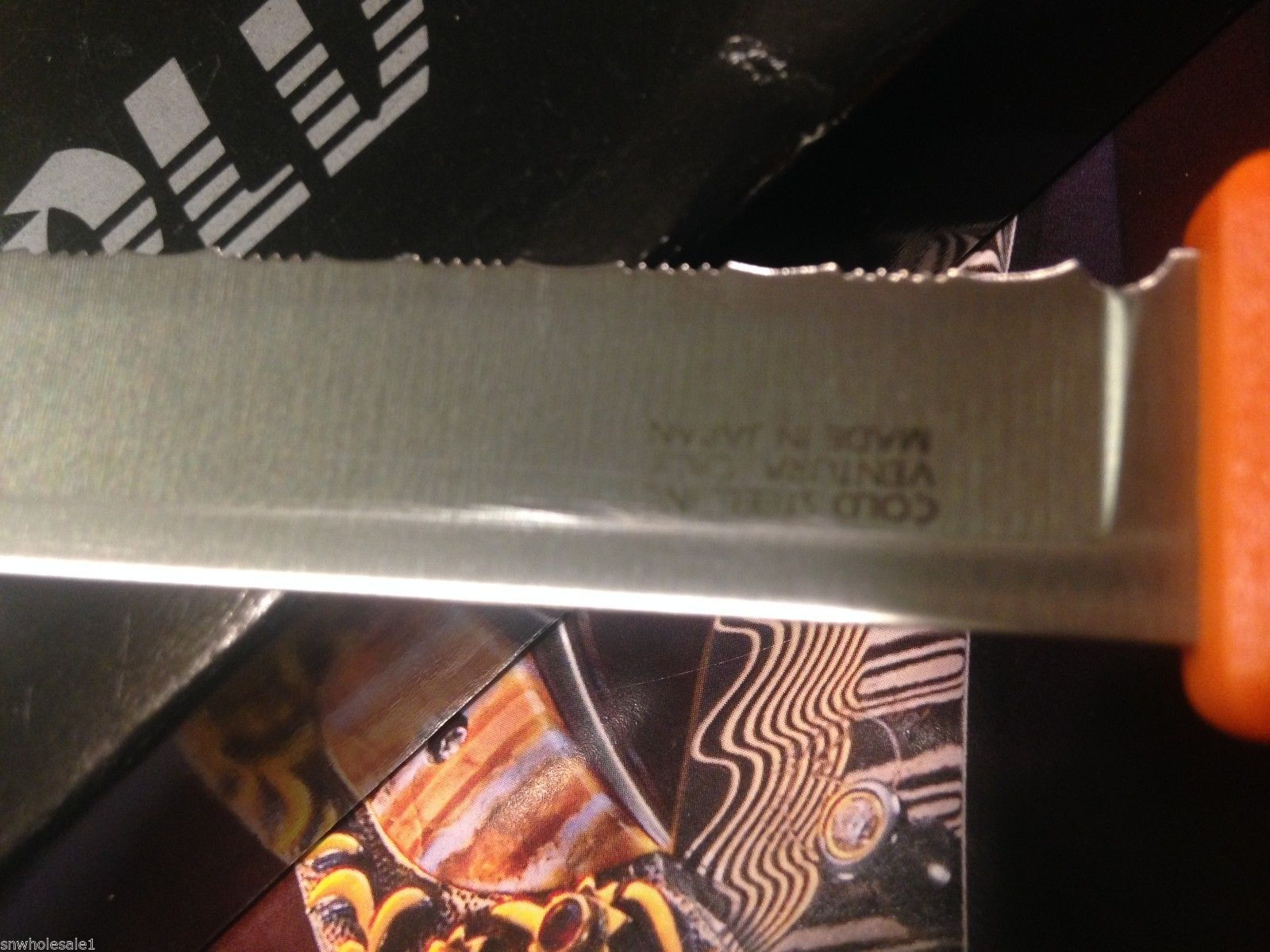 Reverse of the blade where you can see the Cold steel
