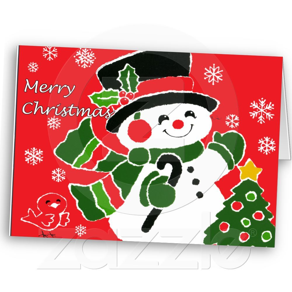 Vintage Snowman Christmas card from Zazzle.com