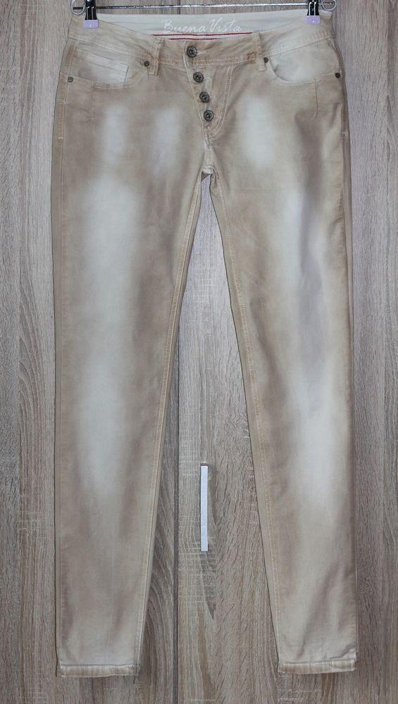 herausragende Eigenschaften bester Service schönen Glanz Buena Vista Malibu Summer Jeans Jeggings Beige Batik Size M 38/40 ...