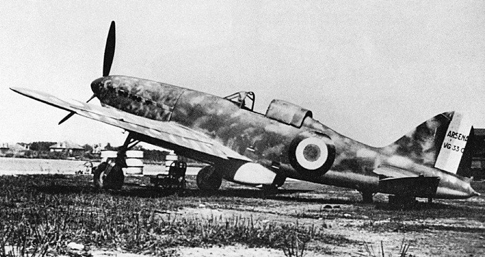 The Arsenal VG-33 was one of a series of fast French light fighter aircraft under development at the start of WWII, but which matured too late to see extensive service in the Armée de l'Air during the Battle of France.