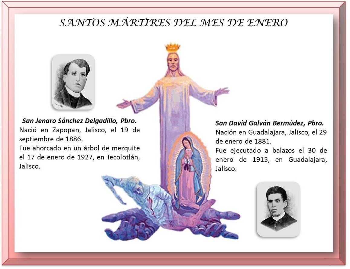 Santos Mártires Del Mes De Enero San David Enero