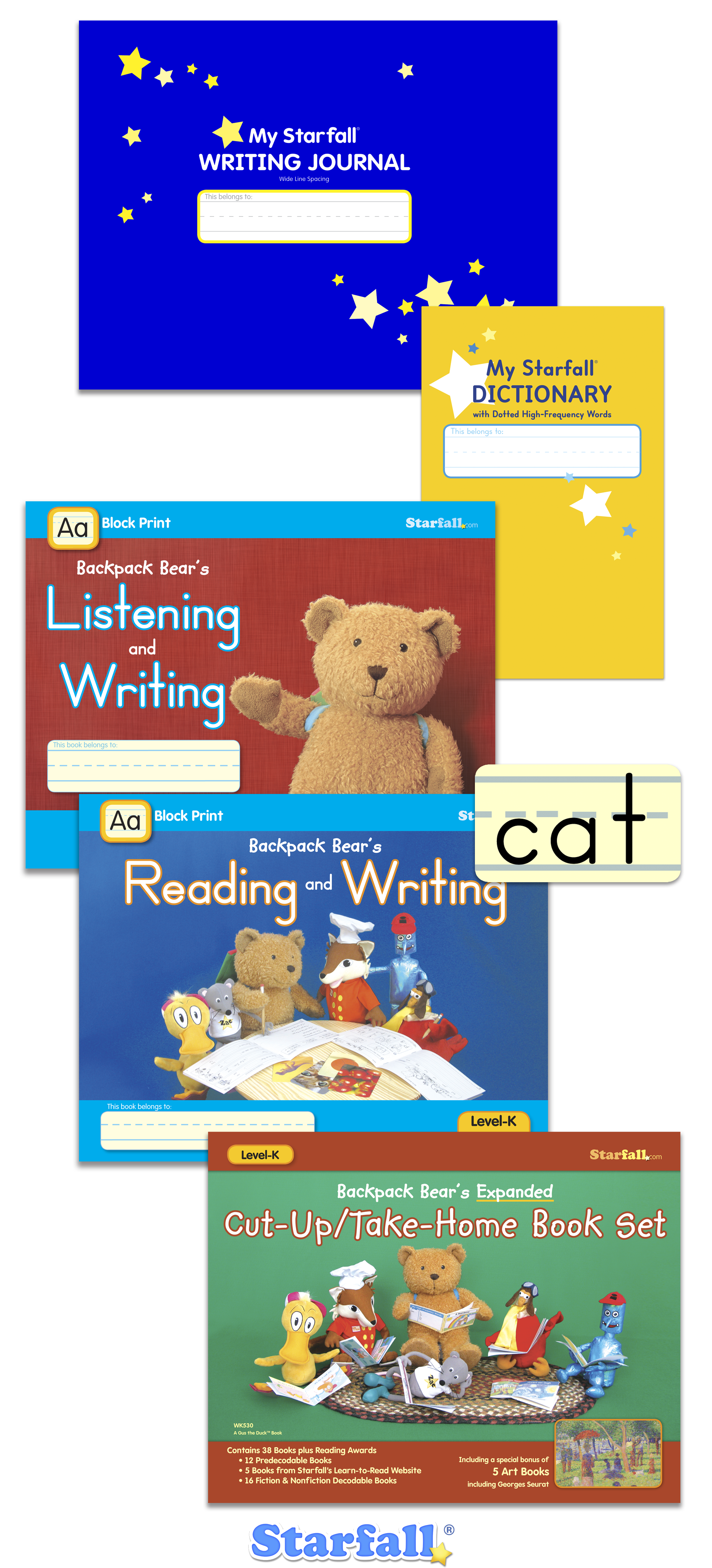 Check out this set of 5 practice books from Starfall! Only