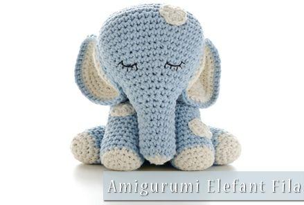 Häkelanleitung Amigurumi Elefant Fila Häkeln Pinterest