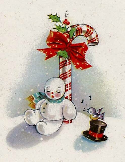 retro snowman