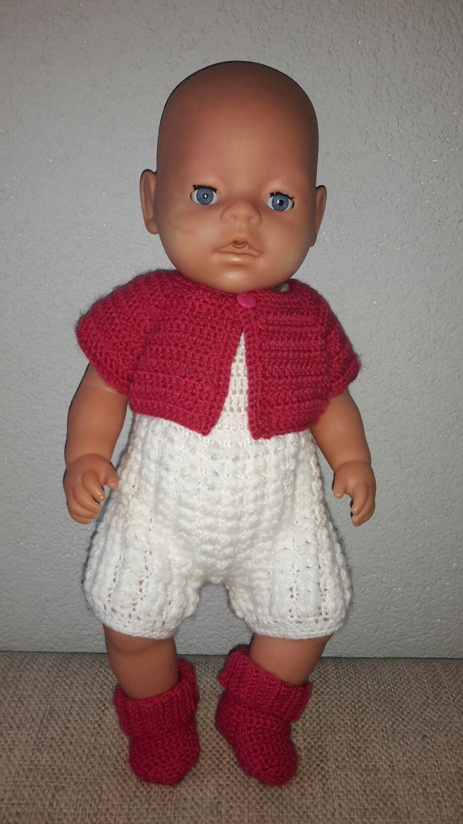 Baby Born Kleding Setje Kruippakje Vestje En Sokjes Voor Patronen