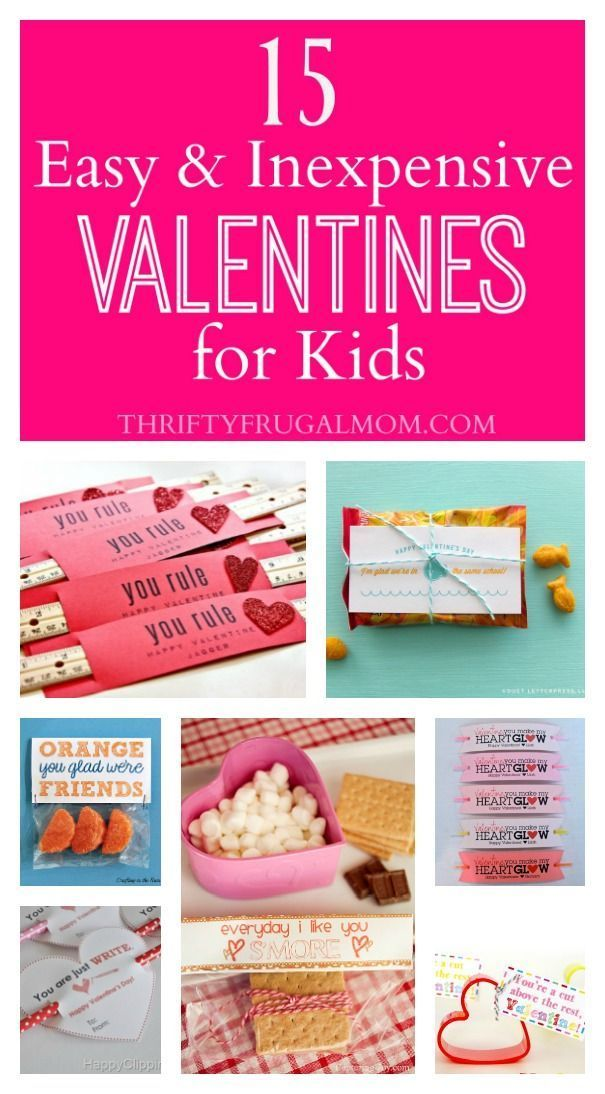 15 Easy Inexpensive Valentines For Kids