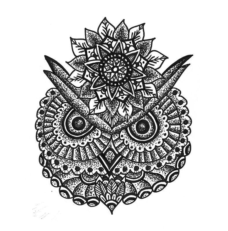 owl mandala by tiffanih