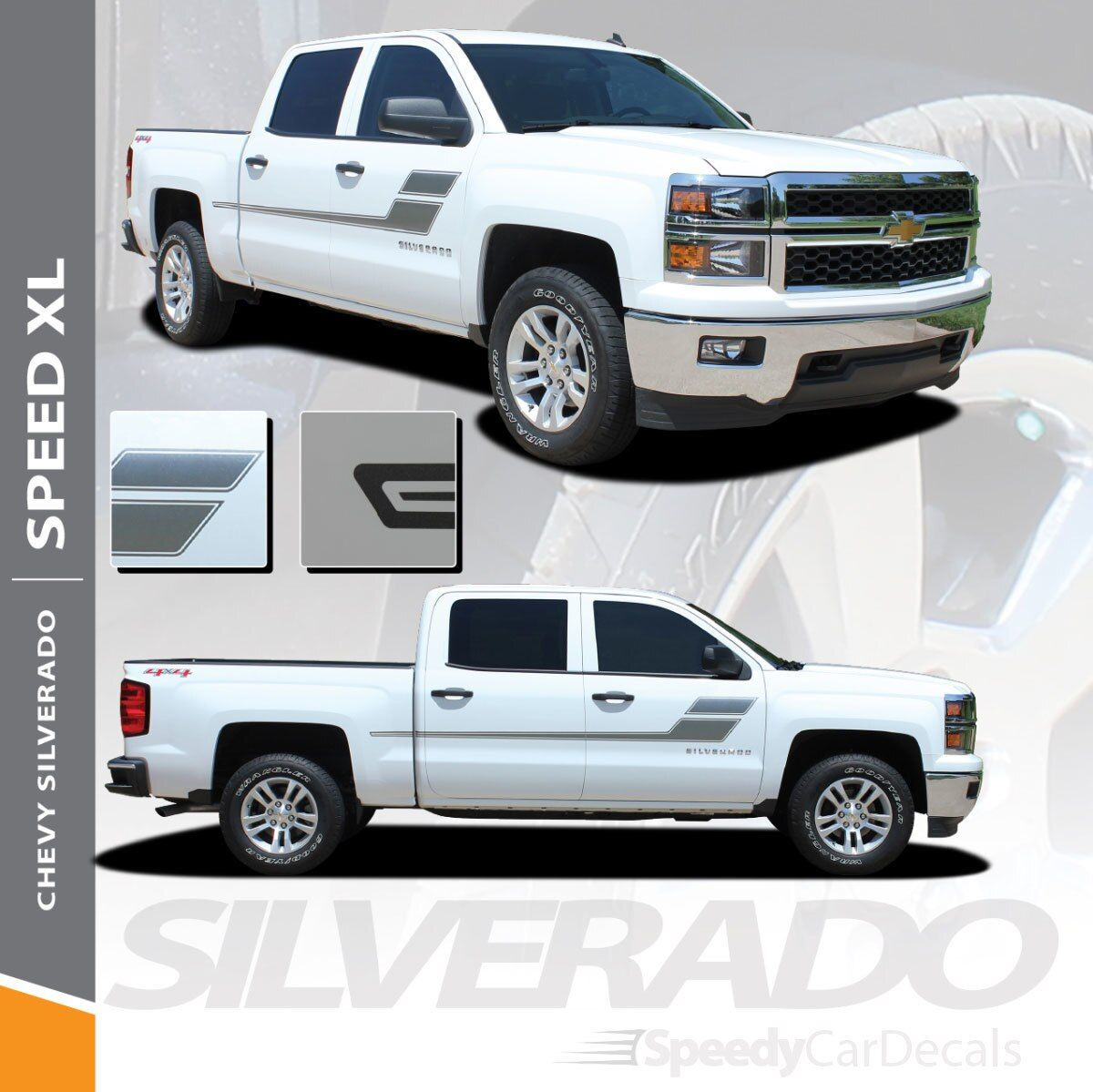 Chevy Truck Bed Decals SPEED XL 2013 2014 2015 2016 2017