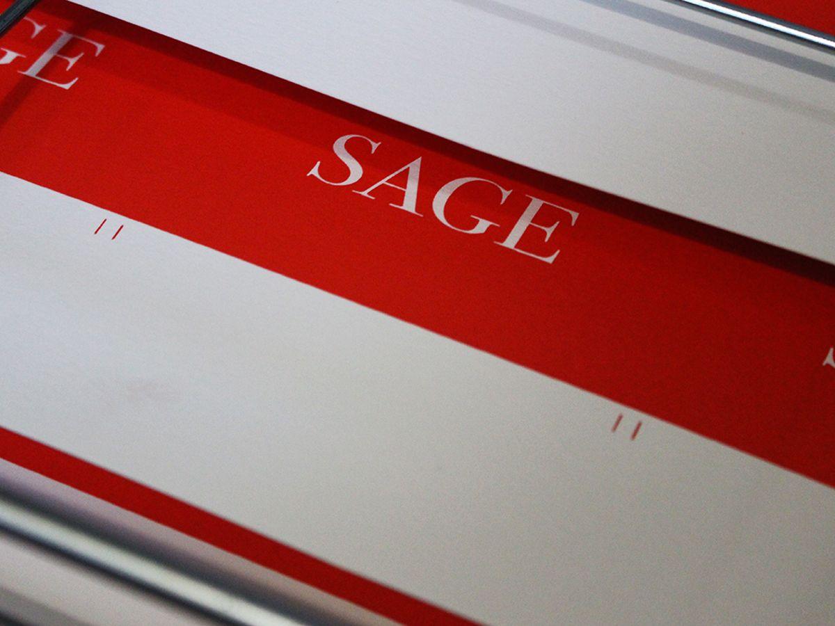 Sage Galerie Paris Cartes De Visite En Srigraphie Par Le Graphiste Simon Jacques Dara