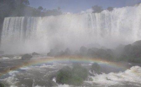Arco Iris de Fronte as Quedas d' Água