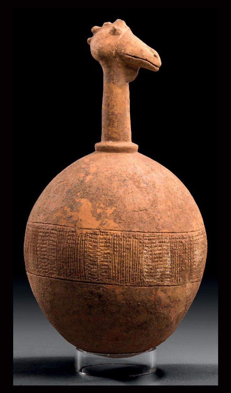 Africa | Votive sculpture in the Bankoni style from the Inner Niger Delta region of Mali | Terracotta with traces of pigment | These types of sculptures were important part of burial goods | ca. 17th - 18th century