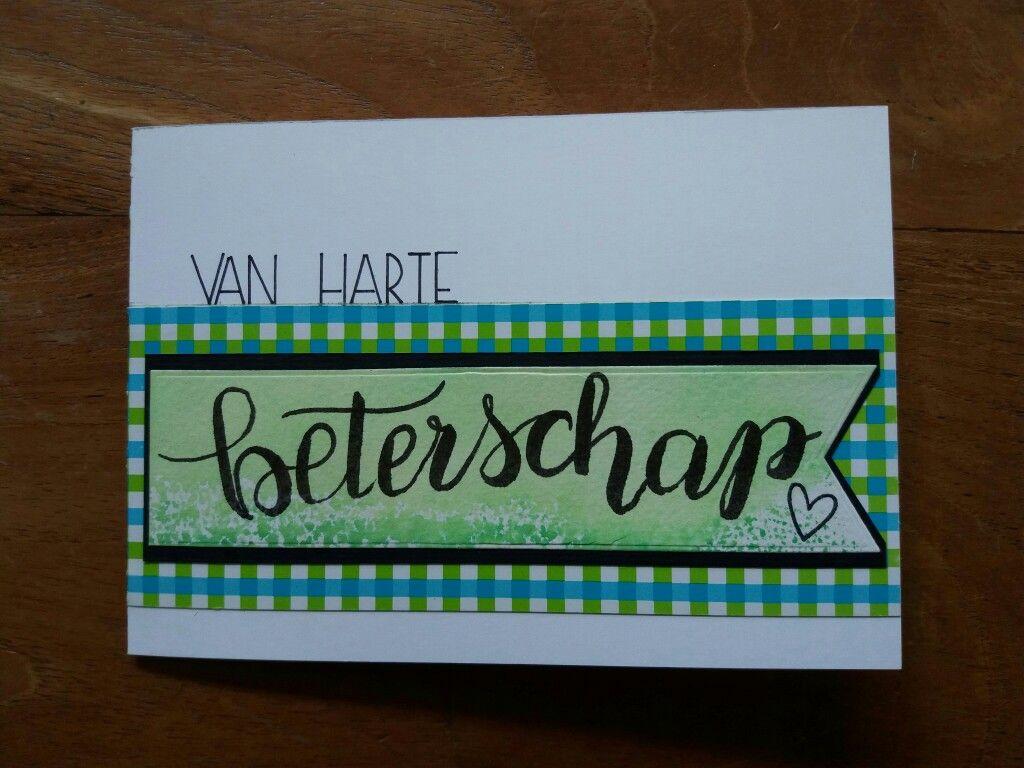 Van Harte Beterschap. Handlettering.