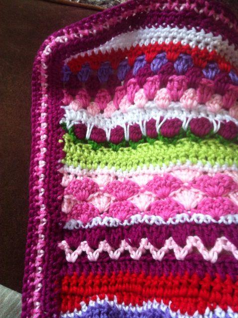 Rand om meismeisjesdekentje, patroon van lanas de ana
