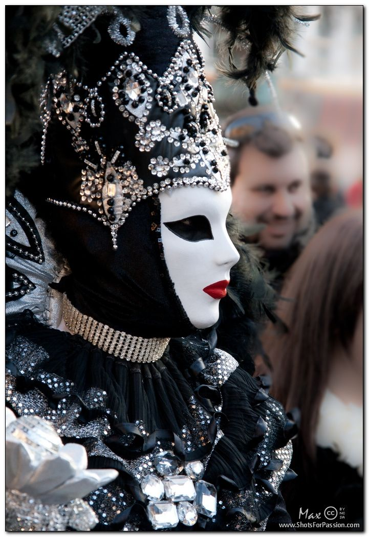venice carnival black and white mask the crystal and