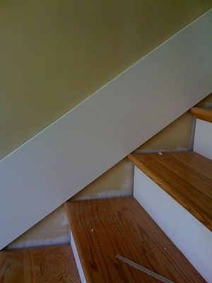 stairway skirt board template