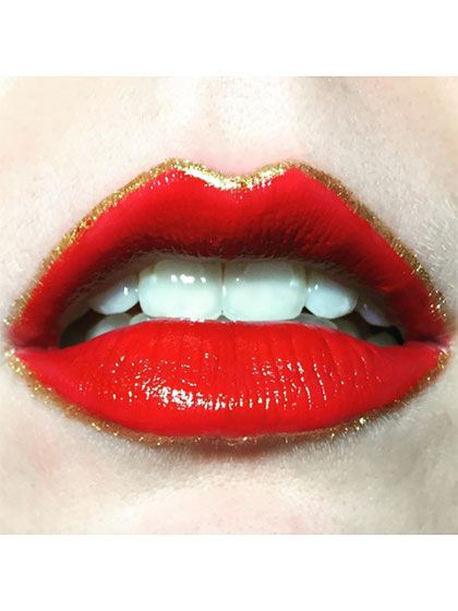 15 Easy Lip Art Ideas You Can Totally Pull Off Lip Art Makeup Brush Set Red Lipsticks