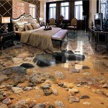 Beibehang Meer Sand Stein Wohnzimmer Badezimmer 3d Boden Malerei